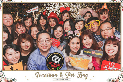 Wedding of Jonathan & Pei Ling | © www.SRSLYPhotobooth.sg