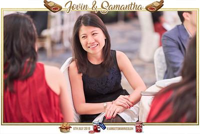 Wedding of Jovin & Samantha   © www.SRSLYPhotobooth.sg