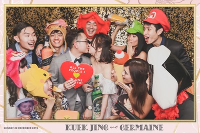 Wedding of Kuek Jing & Germaine | © www.SRSLYPhotobooth.sg