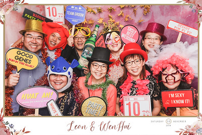 Wedding of Leon & Wen Hui | © www.SRSLYPhotobooth.sg