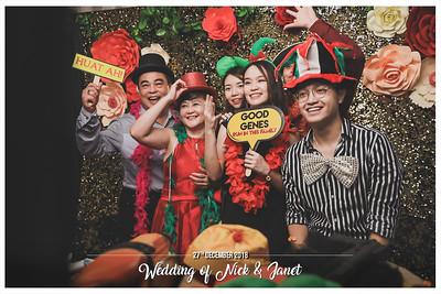 Wedding of Nick & Janet   © www.SRSLYPhotobooth.sg