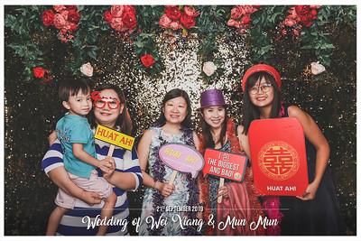 Wedding of Wei Xiang & Mun Mun | © www.SRSLYPhotobooth.sg