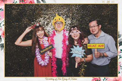 Wedding of Xin Qiang & Xinhui | © www.SRSLYPhotobooth.sg