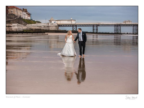 Cromer beach wedding - north norfolk wedding photography