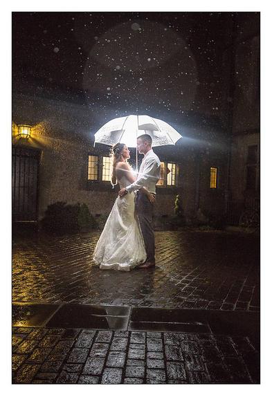 Rain on your wedding day can look stunning - wedding photographer at Hockwold Hall || wedding photography | wedding photographer