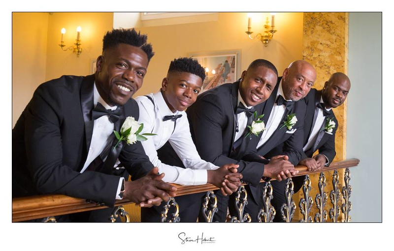 The groomsmen at Hylands House, Chelmsford