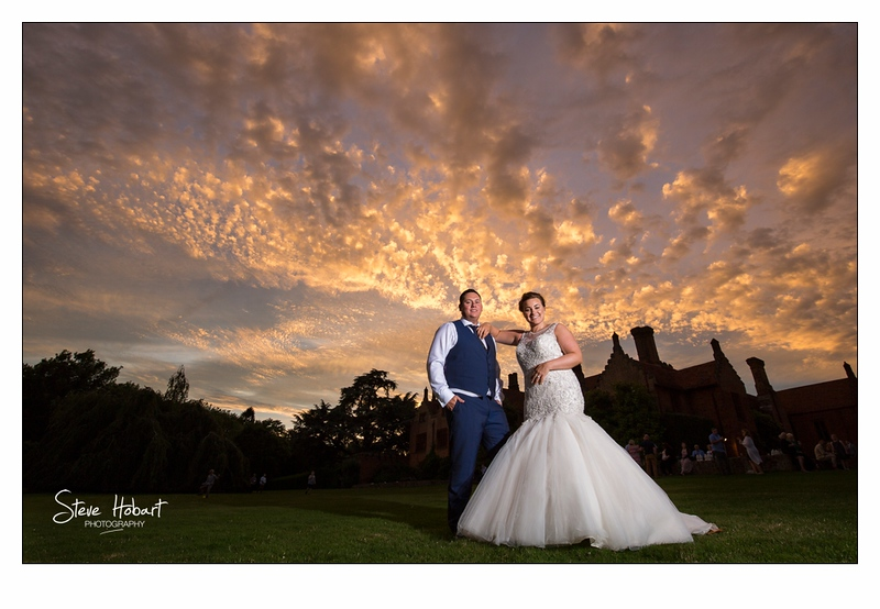 The most amazing sunset in Norfolk - oxnead hall