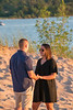 She said Yes! Surprise Proposal Engagement Photography Petoskey State Park