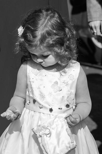 Flower girl at West Midlands wedding.