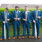 Groom & Groomsmen at Worcestershire wedding.
