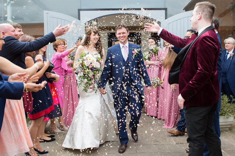 Swallows Nest Barn wedding photography, Warwickshire.