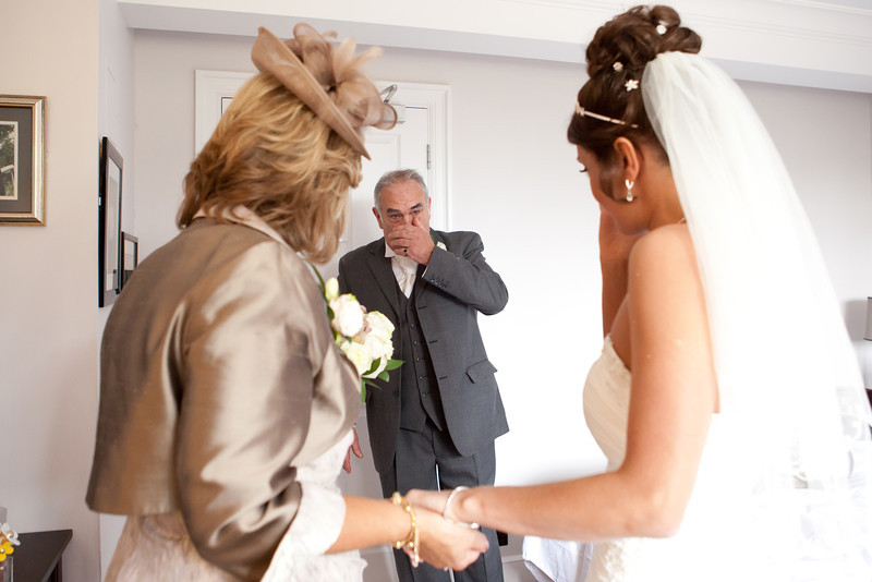 Father of the Bride at a worcestershire wedding.