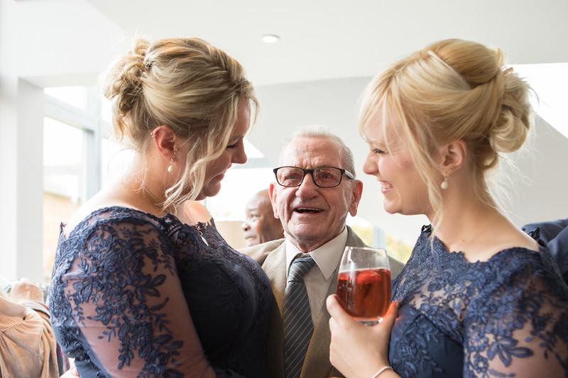 Wedding guests at Warwickshire wedding.