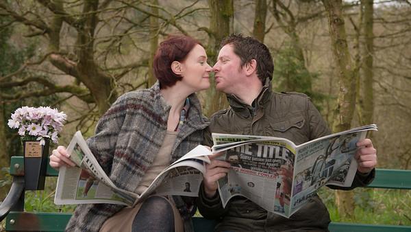 Laura and Scott, Consal,  Stoke on Trent,  Staffordshire.