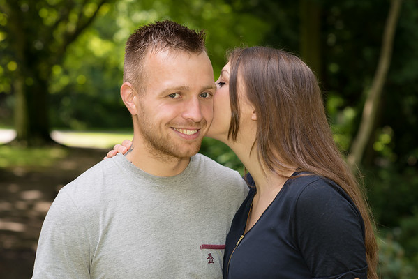 Kerry and Chris, Pre:-wedding Photogtaphy, Longton Park, Staffordshire.