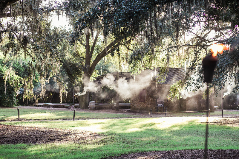 cotton-dock-torch-smoke-boone-hall-plantation-charleston-sc-lowcountry-wedding-kate-timbers-photography-8115