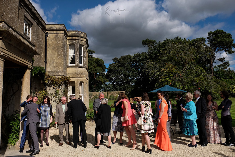 The receiving line at the wedding receprtion of Vicki and Dave Mace at Guyers House, Corsham