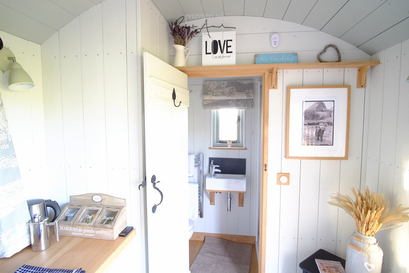 interior of shepherd hut at Wellington barn