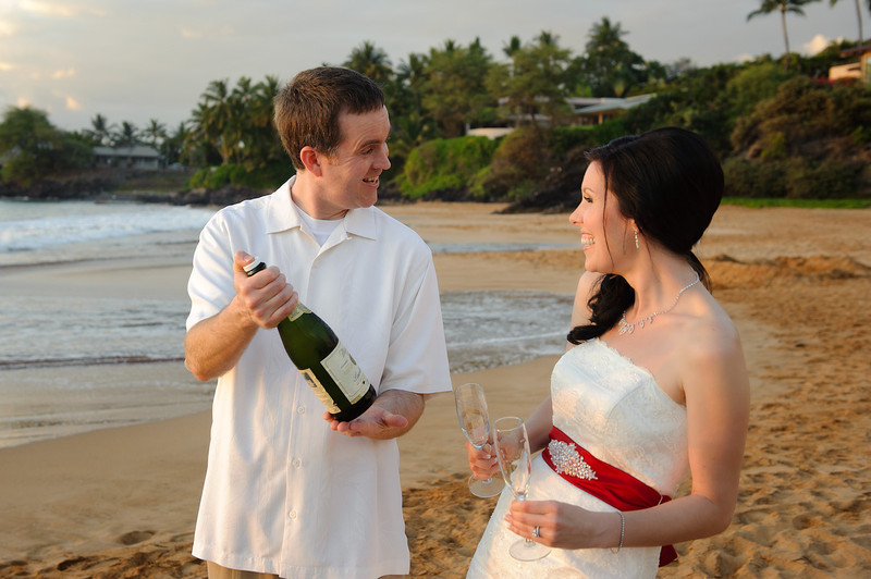 February 14, 2012:  Jeff presents Erin with a bottle of 2012 sparkling apple juice.  These kids know how to party.
