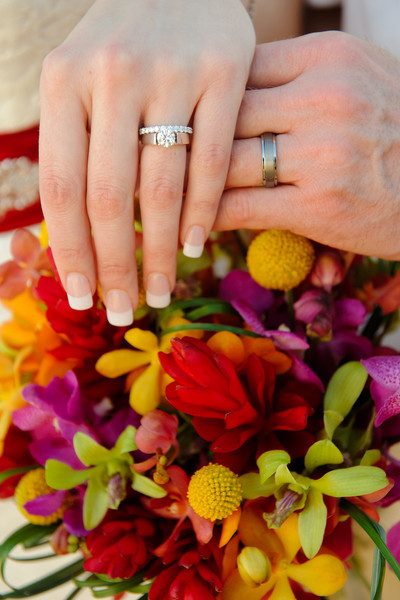 February 14, 2012:  The rings and bouquet.