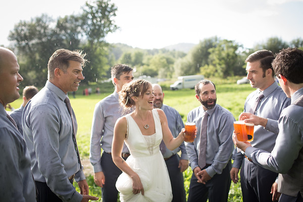 Backyard, Rustic Wedding in Cambridge, Vermont