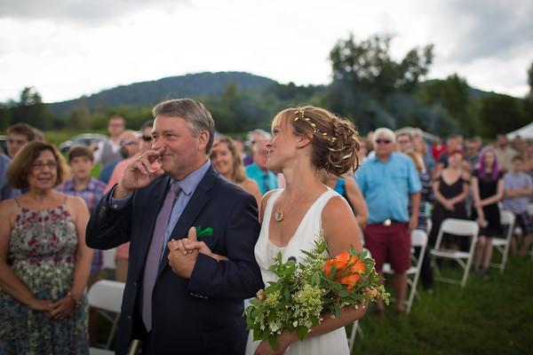 Backyard, Rustic Wedding in Cambridge, Vermont