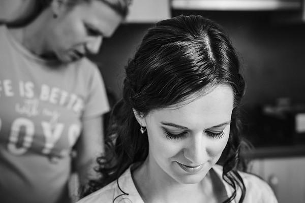 připrava nevěsty
