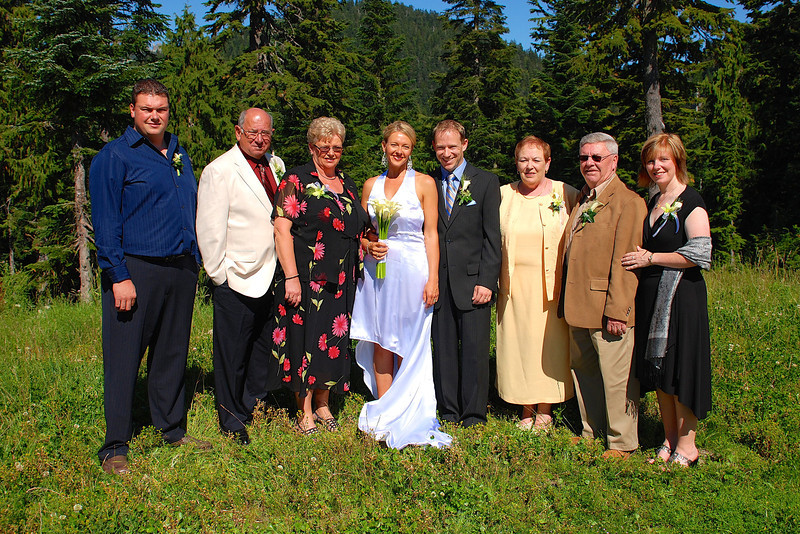 We were so Happy that our immediate families were able to make it out from Newfoundland for our special day... it made it perfect for us! :-)