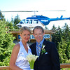 We got Married at Noon and as we were leaving on a Cruise to Hawaii at 5pm we were so excited about the Helicopter ride we'd be taking to the Cruise Port that we had to go take some pictures of it before our Lunch reception. :-)