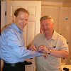 And Shawn's Dad helping him out with the engraved cufflinks that Nancy bought him as a Wedding gift.
