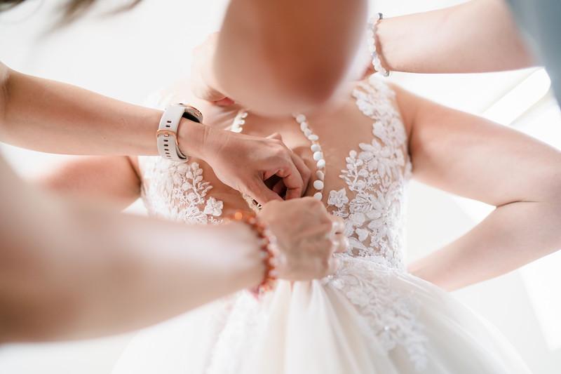 zapínání svatebních šatů
