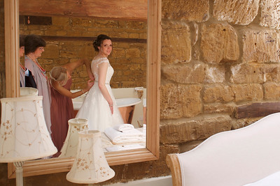 Bridal preparations at Crockwell Farm