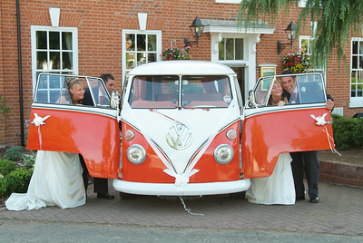 VW Camper Wedding couple