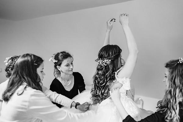 svatební přípravy v Deštném