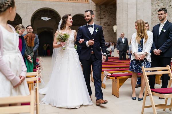 wedding ceremnoy Kostel Nanebevzetí Panny Marie