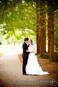 BRIDE & GROOM WEDDING PORTRAIT AT PIEDMONT PARK ATLANTA GA