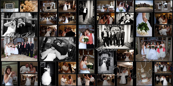 a 12 by 24 inch collage, a glimpse at the wedding day