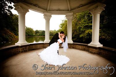 BRIDE & GROOM PORTRAIT AT PIEDMONT PARK ATLANTA GA