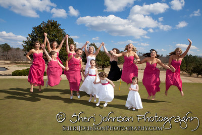 BRIDE AND BRIDESMAIDS AT POLO GOLF AND COUNTRY CLUB CUMMING GA BY SHERI JOHNSON