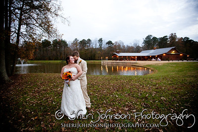 BRIDE AND GROOM AT THE REID BARN CUMMING GA