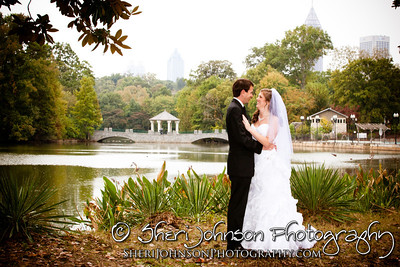 BRIDE & GROOM WEDDING PORTRAIT PIEDMONT PARK ATLANTA GA