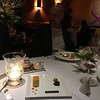 """Wedding dinner with with Joe and Paul. Extra plate for """"congratulations"""".#6"""