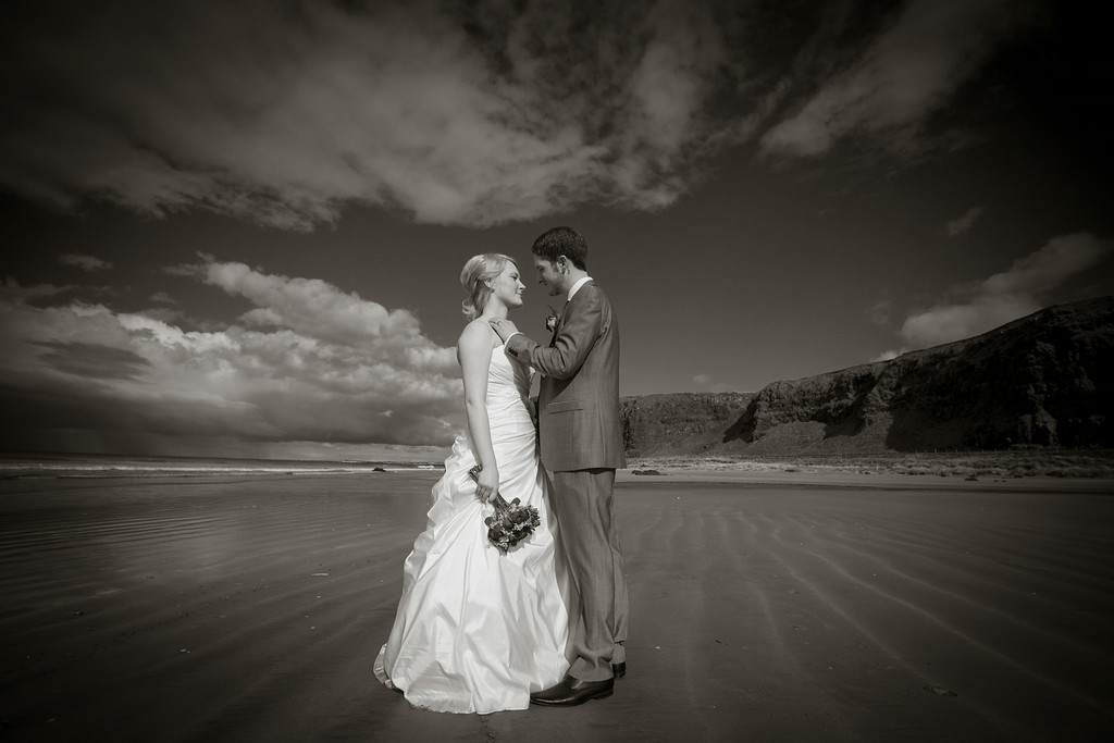 Blues / Drummond Wedding. Downhill Beach near Coleraine