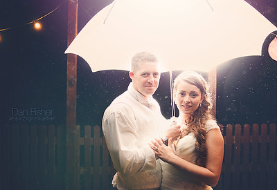 Flashing Umbrella | Dan Fisher Wedding Photography, Gloucester