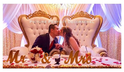 BACKDROP (Bride & Groom Gold Royal Thrones)
