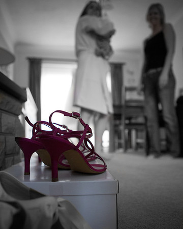 Bride and Bridesmaid getting ready for the big day