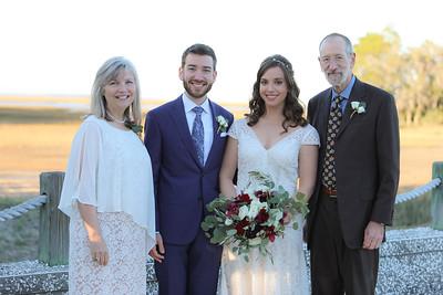 Family and Wedding Party, Oyster Bay Yacht Club, Fernandina Beach, Florida