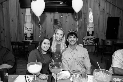 Bryce and Marissa enjoy rehearsal dinner at El Tequila Mexican Restaurant in Milledgeville, Georgia