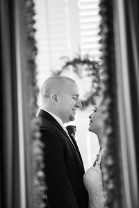 Justin and Tiffany Bass' First Look Portraits at The Grand Magnolia House