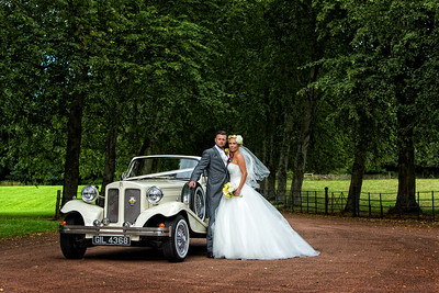 Vintage Wedding Car Dryburgh Abbey Hotel